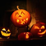 image of carved halloween pumpkins