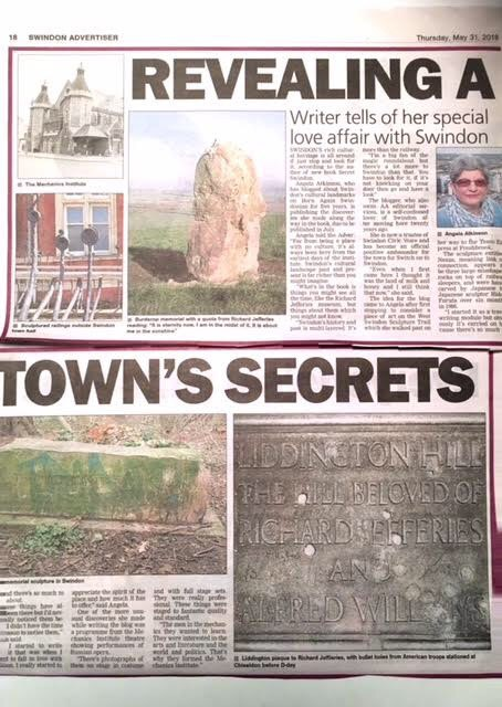 Swindon Advertiser aerticle about new Secret Swindon book by Angela Atkinson